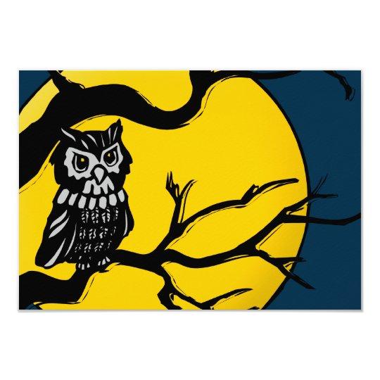 night owl halloween invitation