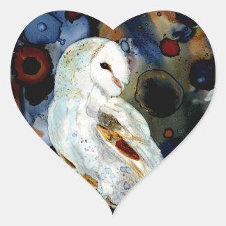 Night Owl Heart Sticker