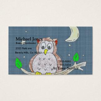 Night Owl In Moonlight Business Card