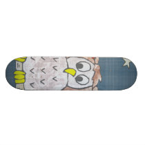 Night Owl In Moonlight Skateboard
