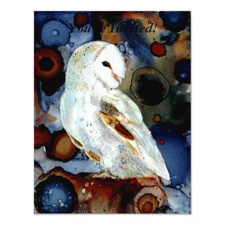 Night Owl 4.25x5.5 Paper Invitation Card