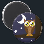 """&quot;Night Owl&quot; Magnet<br><div class=""""desc"""">This fun product has cute artwork of an owl at night on it.</div>"""
