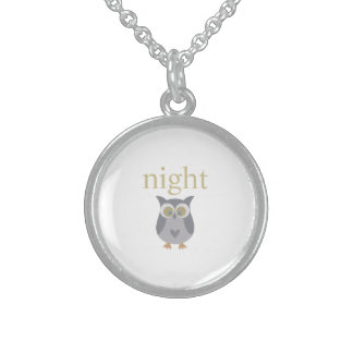 Night Owl Sterling Silver Necklace