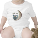 Night Owl on the Moon Art Clothing Bodysuit