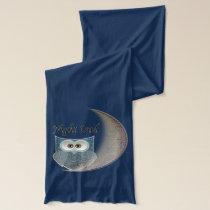 Night Owl on the Moon Art Scarf