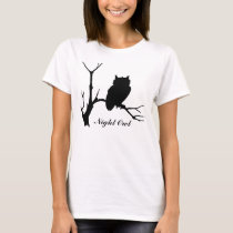 Night Owl: Owl Silhouette T-Shirt