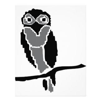 night owl owlet customized letterhead