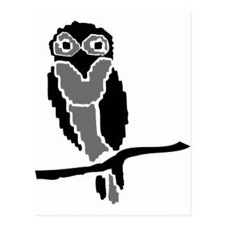 night owl owlet postcard