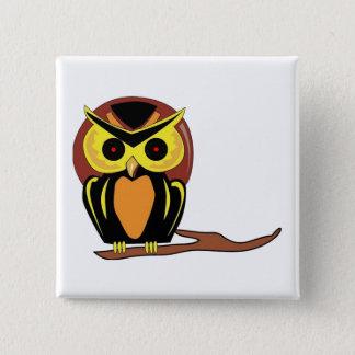 Night Owl Pinback Button