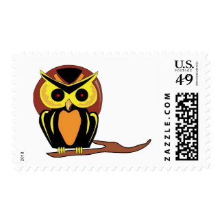 Night Owl Postage Stamps