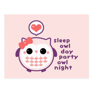 Night Owl Postcard