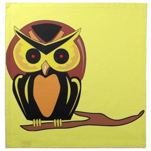 Night Owl Printed Napkins