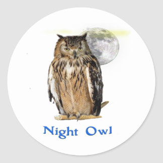 Night owl products classic round sticker