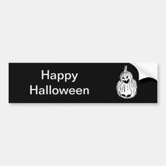 Night Owl Pumpkin Bumper Stickers