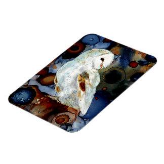 Night Owl Rectangular Photo Magnet