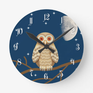 Night owl round clock