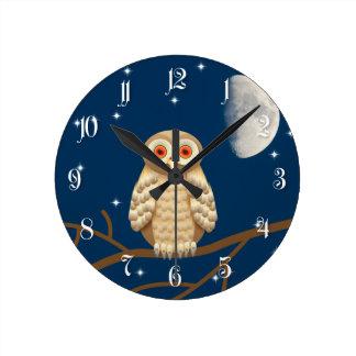 Night owl round wall clocks