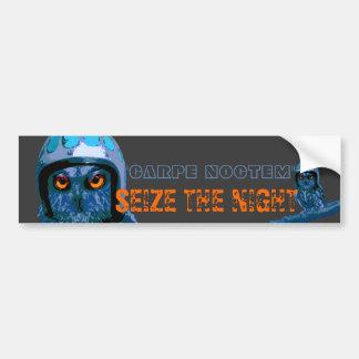 Night Owl - Seize The Night! Bumper Sticker