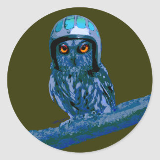 Night Owl - Seize The Night! Classic Round Sticker