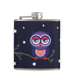 Night Owl Sitting on a Branch Flask