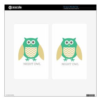 Night Owl Kindle Fire Skin