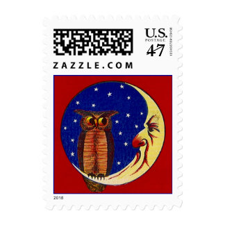 Night Owl & Sliver Facial Moon Stars STAMPS
