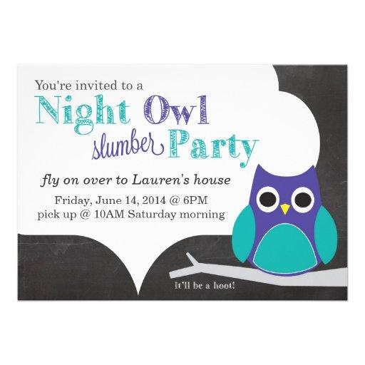 Night Owl Slumber Party Card