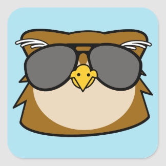 Night Owl Square Sticker
