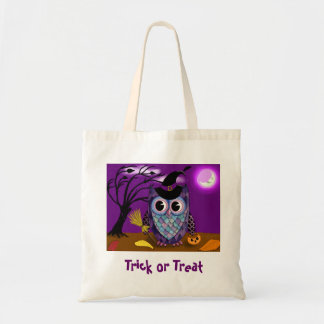 Night Owl Trick or Treat Tote