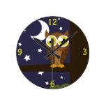 """""""Night Owl"""" Wall Clocks"""