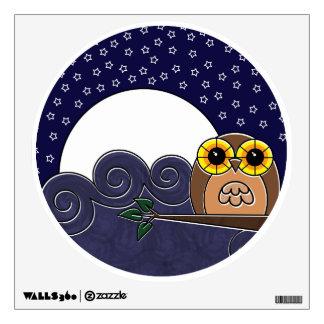 Night Owl Wall Decal - Cute Owl Wall Sticker