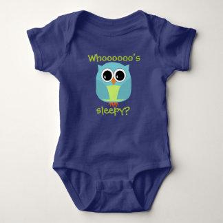 Night Owl Who's Sleepy? Baby Bodysuit