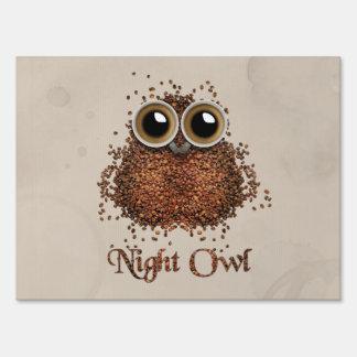 Night Owl Yard Sign
