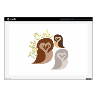 "Night Owls Skin For 17"" Laptop"