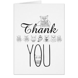 Night Owls Thank You Card