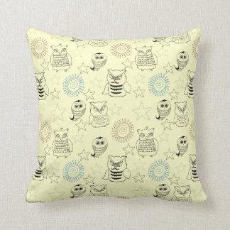 Night Owls Throw Pillows