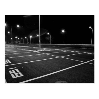 Night parking spaces post card