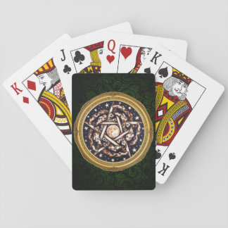 Night Pentacle Playing Cards - Green