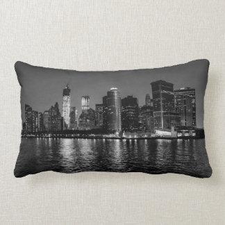 Night Photo of the New York City Skyline Landscape Pillow