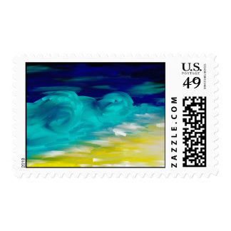night postage stamp