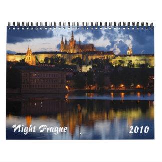 Night Prague 2010 Calendar