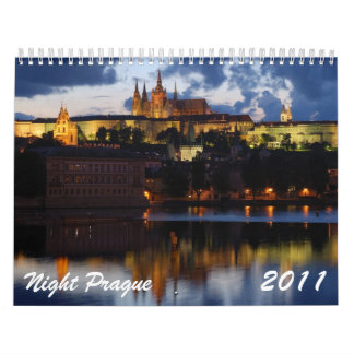 Night Prague 2011 Calendar