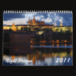 Night Prague 2011 Calendar