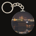 Night Prague Castle Keychain