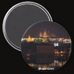 Night Prague Castle Magnet