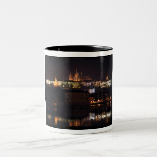 Night Prague Castle Mug