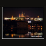 Night Prague Castle Postcard
