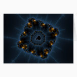 Night Prowler Fractal Art Card