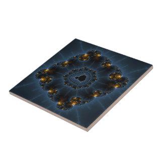 Night Prowler Fractal Art Ceramic Tile