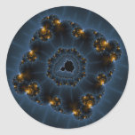 Night Prowler Fractal Art Classic Round Sticker